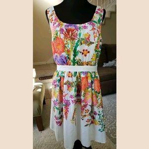 Eshakti floral swing dress summer 12 L